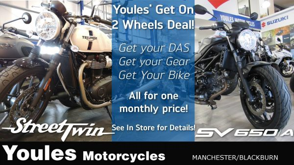 We've teamed up with RJH Motorbike Training​ to bring you our Get On 2 Wheels Deal!