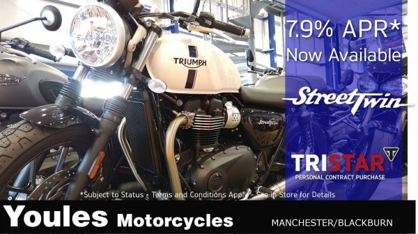"""The Street Twin is also part of our """"Get On 2 Wheels"""" DAS Bundle offer in partnership with RJH Motorbike Training, giving an even better monthly price!"""