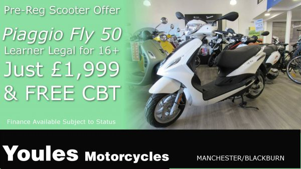 Piaggio Fly 50cc Scooter - Just £1999 with FREE C.B.T.!
